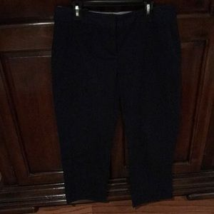 Talbots petite navy ankle pants 4p